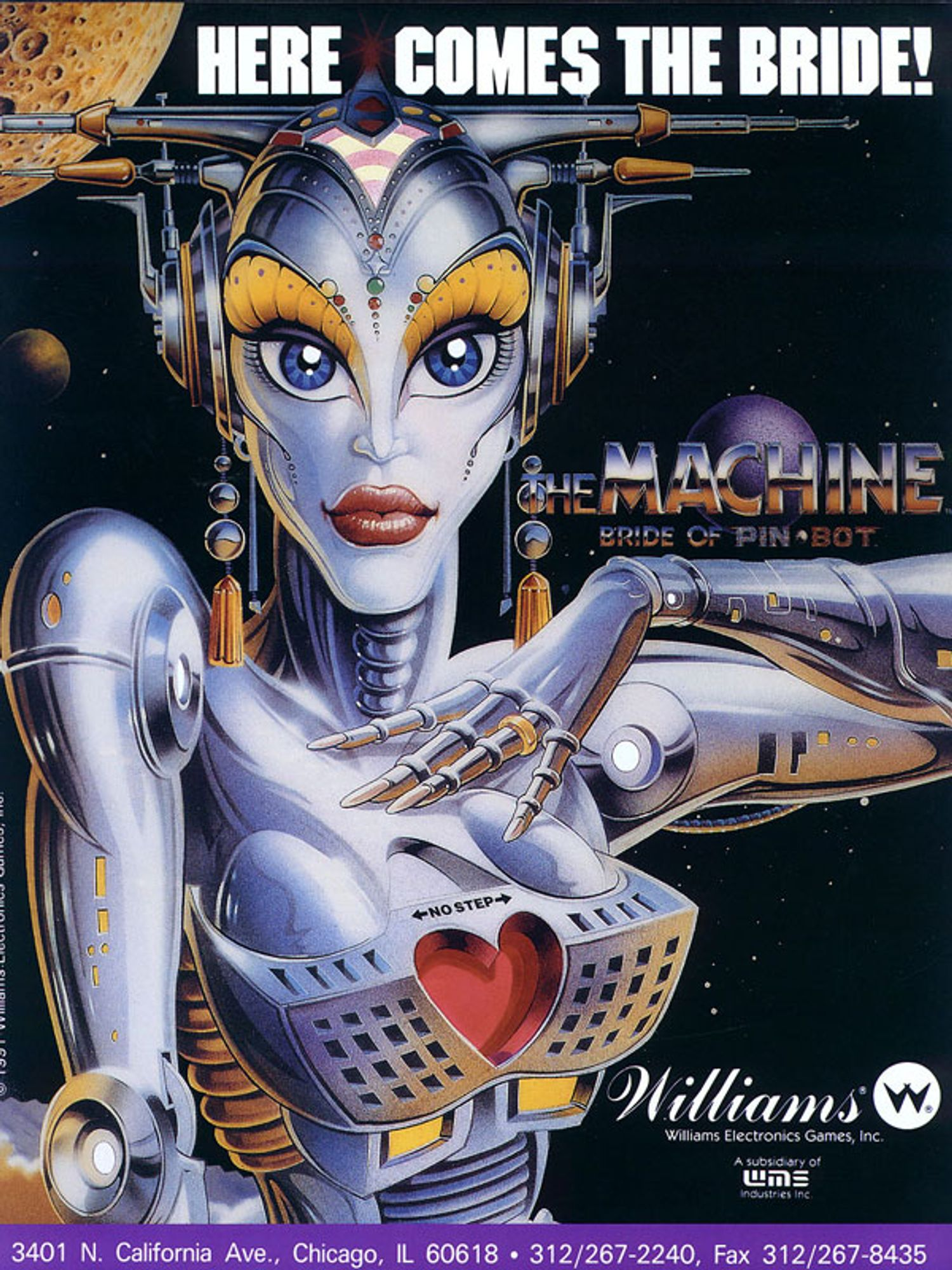 Machine Bride of Pinbot Flyer Vorderseite