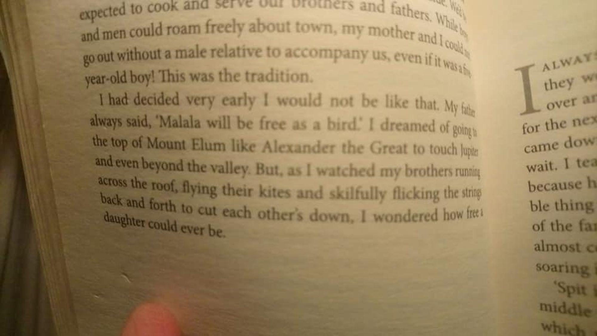 Extract from 'I am Malala'