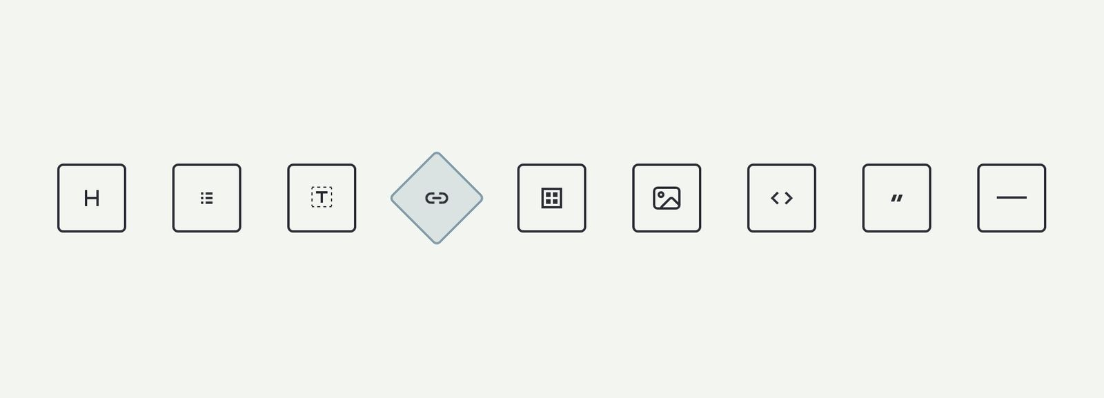 Screenshot of rotating buttons taken from the Markdown Cheat Sheet app.