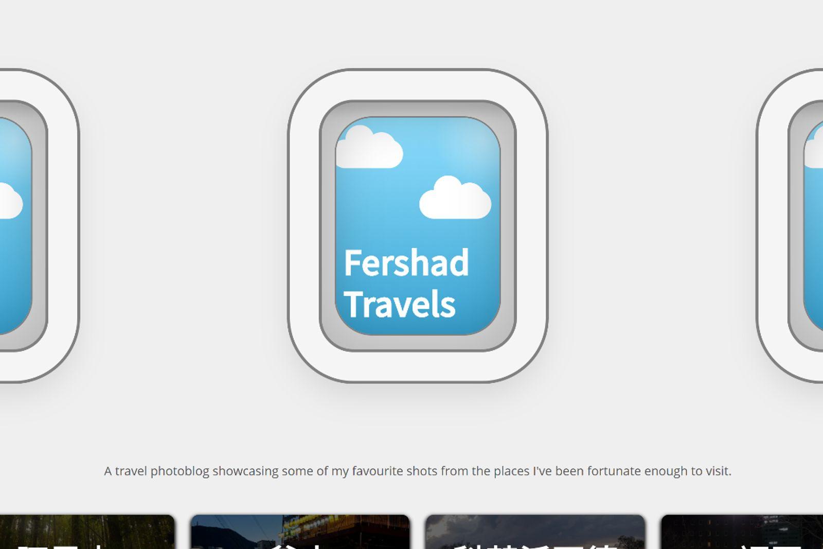 Web development case study project fershad travels.