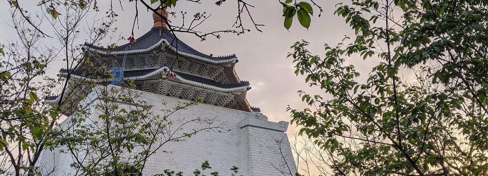 Springtime at Chiang Kai-Sheck Memorial Hall in Taipei