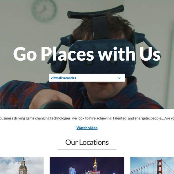Screenshot of DisplayLink - Going Places landing page.