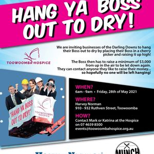 Hang Your Boss out to Dry Fundraiser