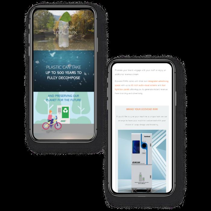 Responsive environmental website development
