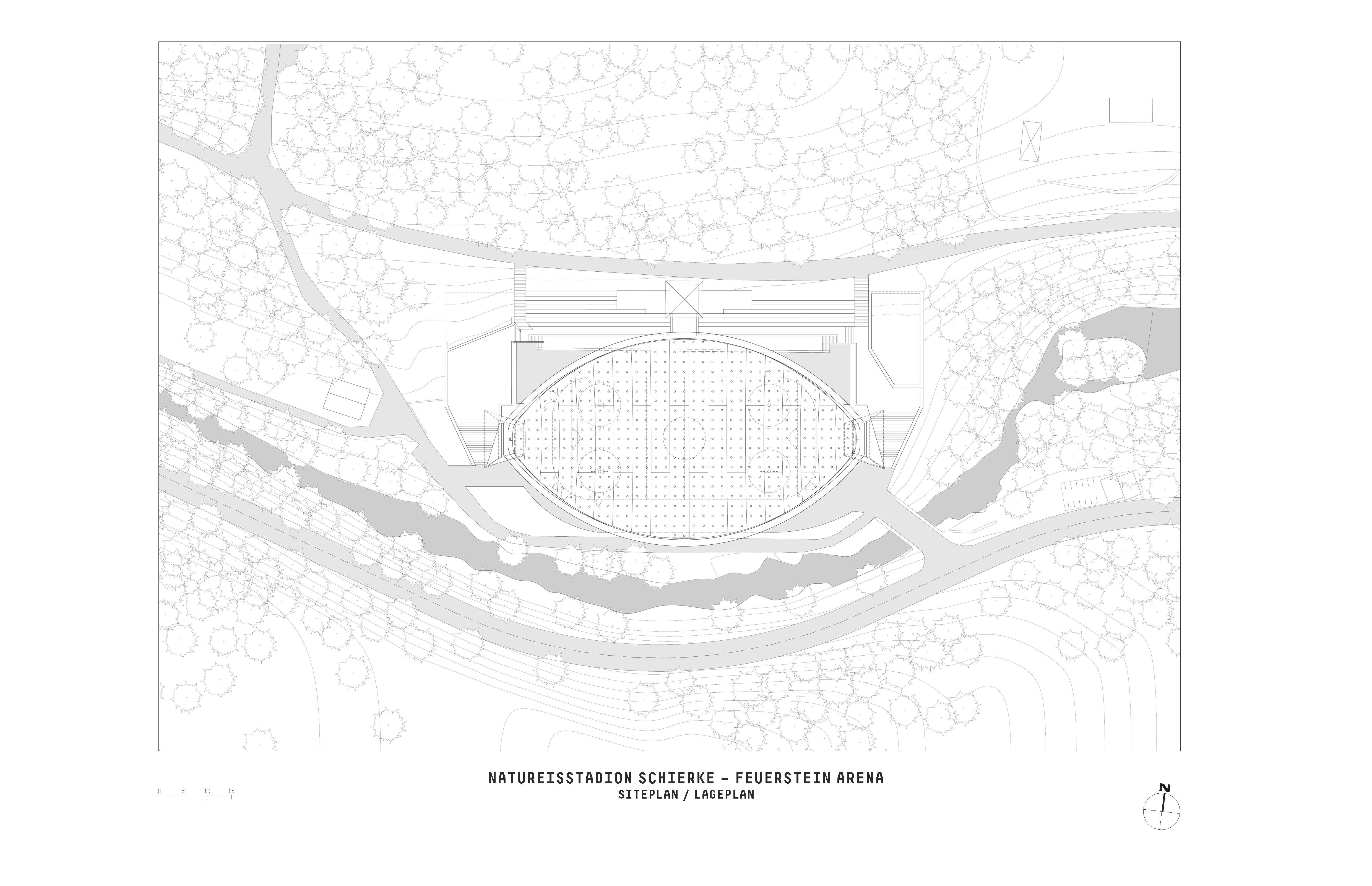 Ice Stadium Schierke site plan
