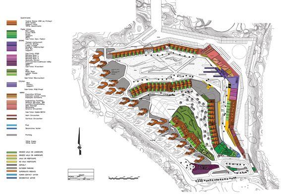 Desert Hotel Site Plan W