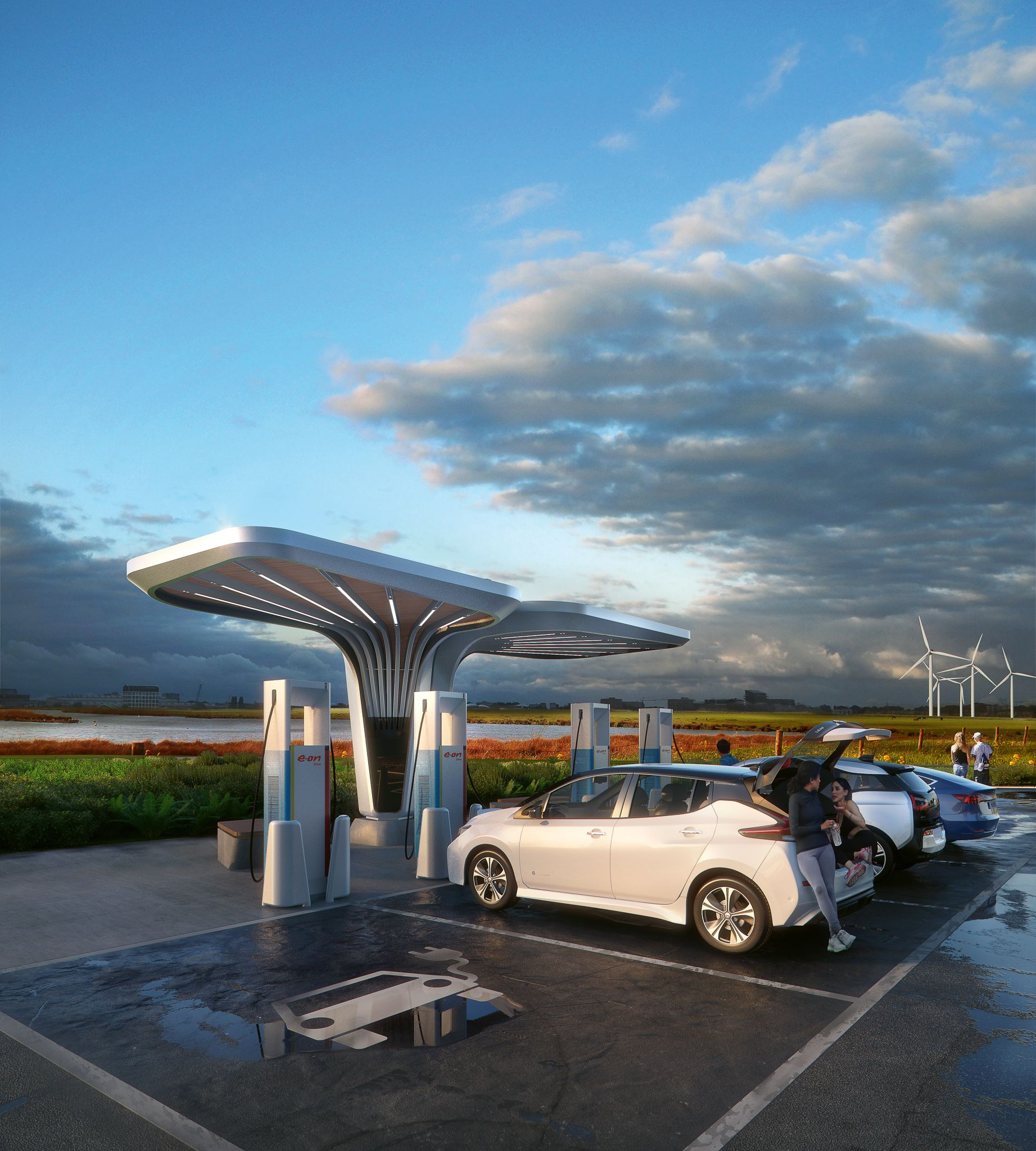 E.ON Ultra-fast charging stations
