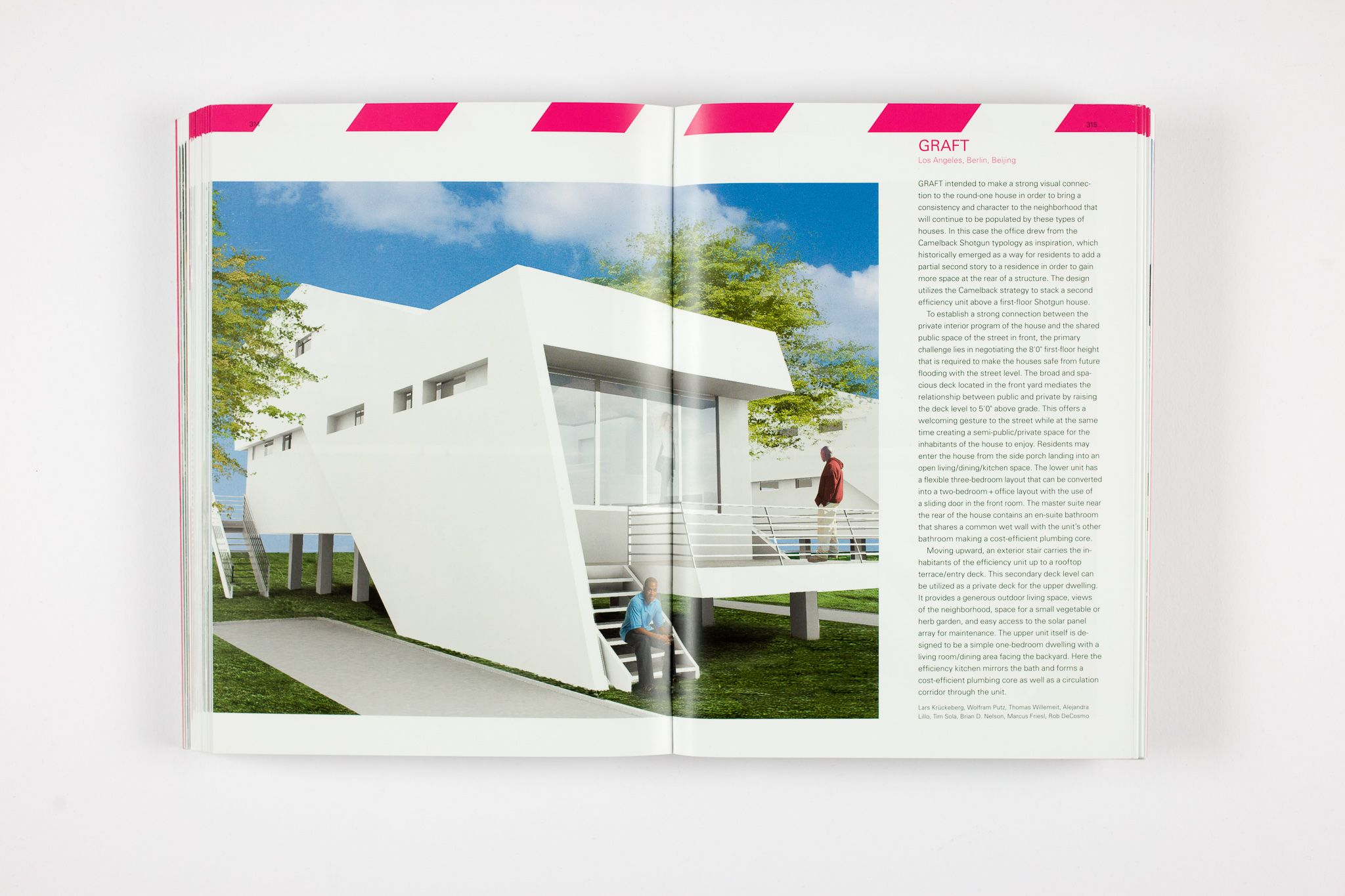 This book documents the process with numerous photos, plans, and renderings as well as written commentary from the architects. Besides Brad Pitt's foreword in which he writes of his motivations to bring the Make It Right Foundation to life, the book also includes essays regarding the entire design process and the cradle-to-cradle concept. In addition, the 'Pink Project', a Land Art awareness installation from Brad Pitt and GRAFT, generated interest in the international media thereby helping to attract financing for the MIR housing project.         This book can also serve as an instruction manual for people and other initiatives confronted with similar circumstances. MIR is currently working to extend their aid programs to other areas in need across the USA.