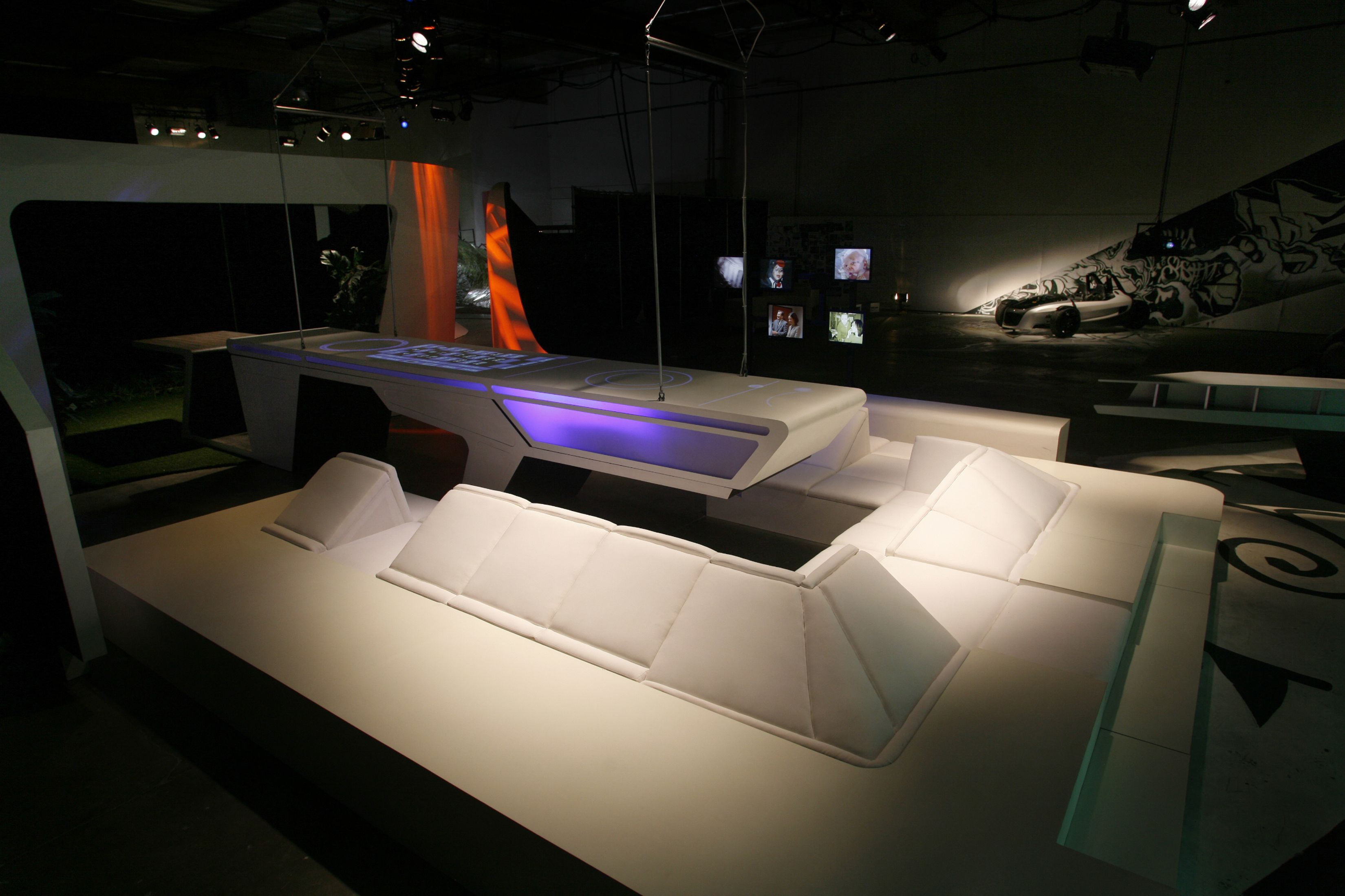 Moonraker, GRAFT: life set for one of four avatars to predict the future environment of the target group; a set for movable components of the interior digital interface turns into a kitchen counter