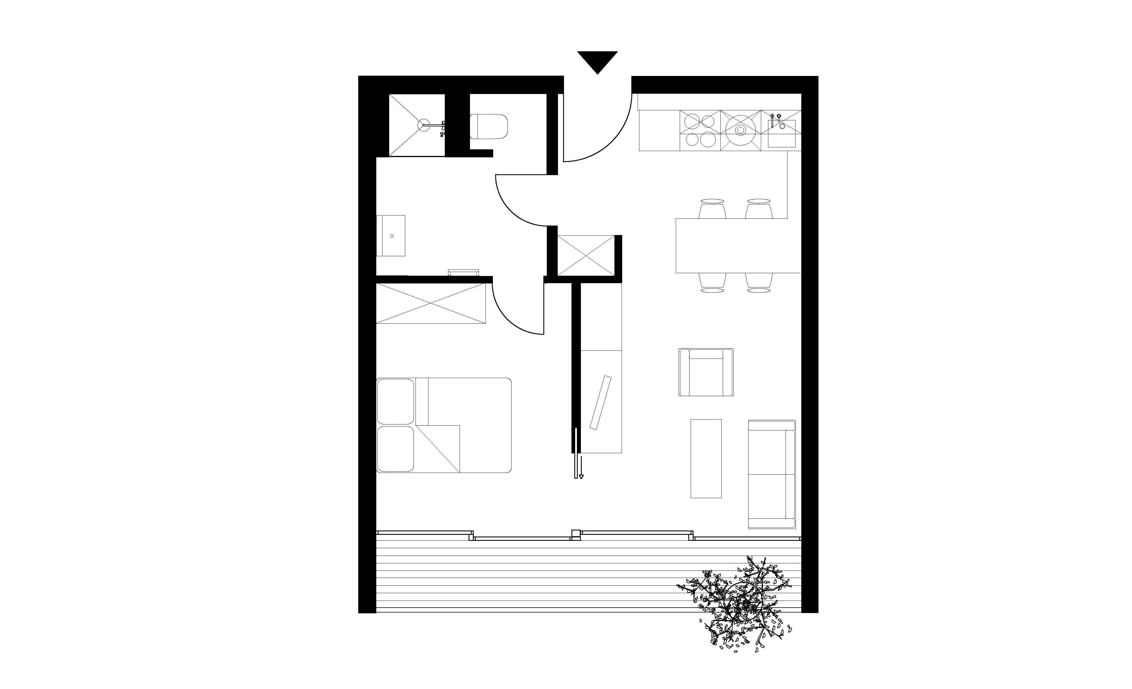 Paragon Apartments - Micro Apartment Plan
