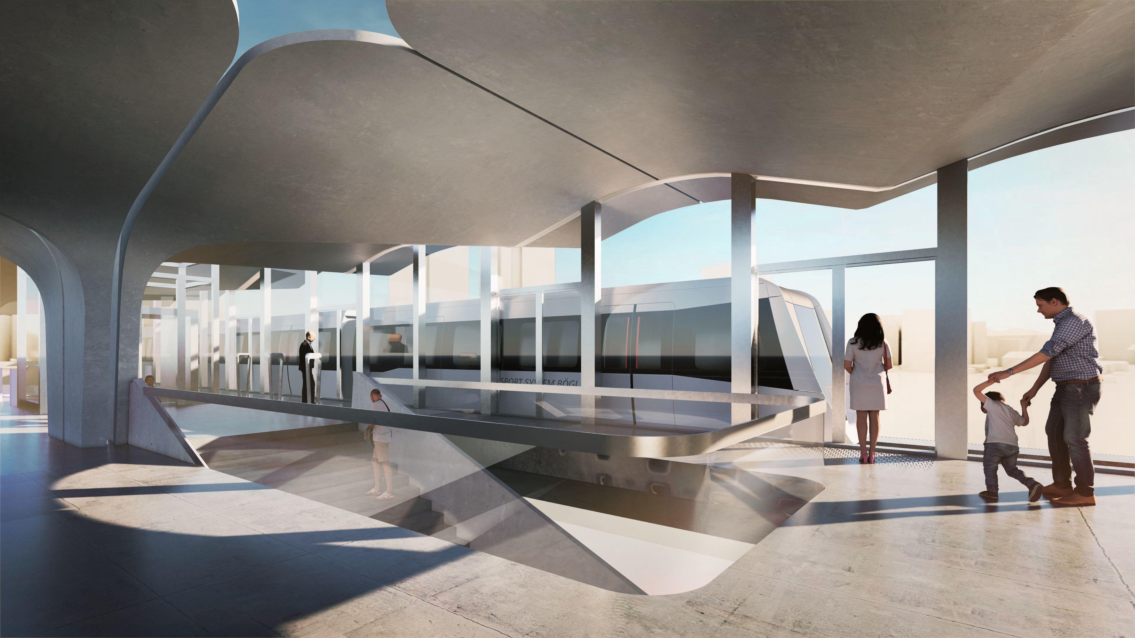 maglev train stations