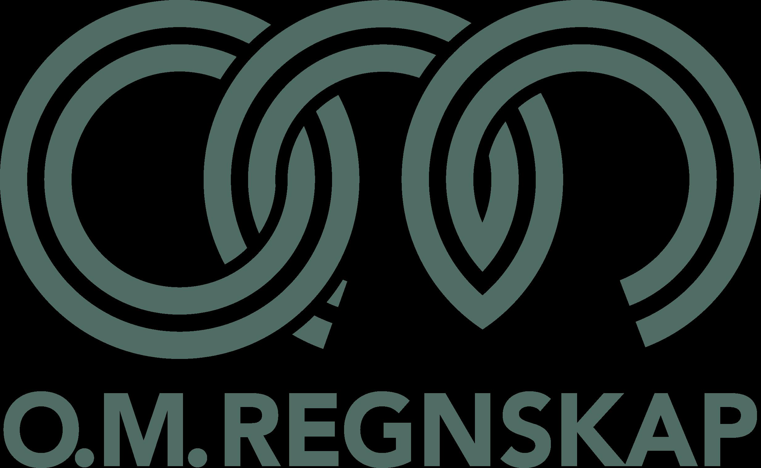 O.M Regnskap AS logo