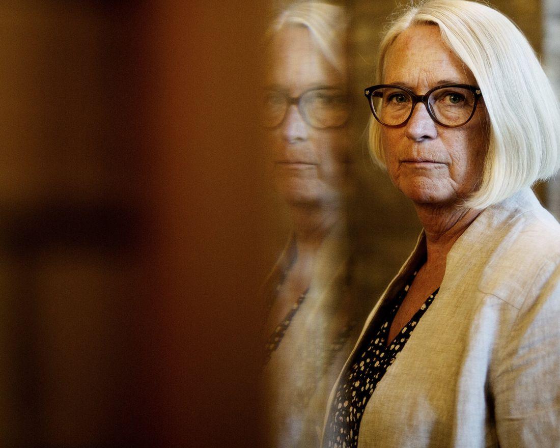 Intervju med Marit Arnstad (Sp) om hva de vil kopiere av danske erfaringer. Her er hun fotografert på Stortinget. Foto: Hanne Marie Lenth Solbø