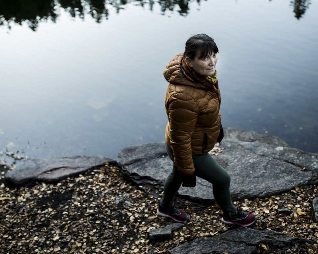 20191029 - Oslo, Norge.   Portrett med Anita Johansen, tidligere gruvearbeider, nå leder i Arbeidsmandsforbundet.