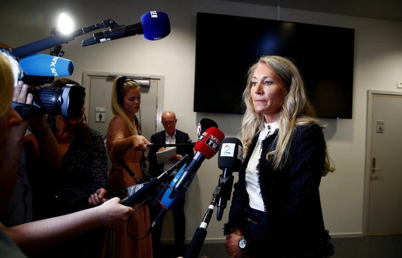 KRITISK: Representantskapsleiar Julie Brodtkorb meiner banken har brote lova i tilsetjingsprosessen med Nikolai Tangen. Måndag møtte ho i høyring på Stortinget med finanskomiteen. FOTO: TERJE PEDERSEN/NTB SCANPIX