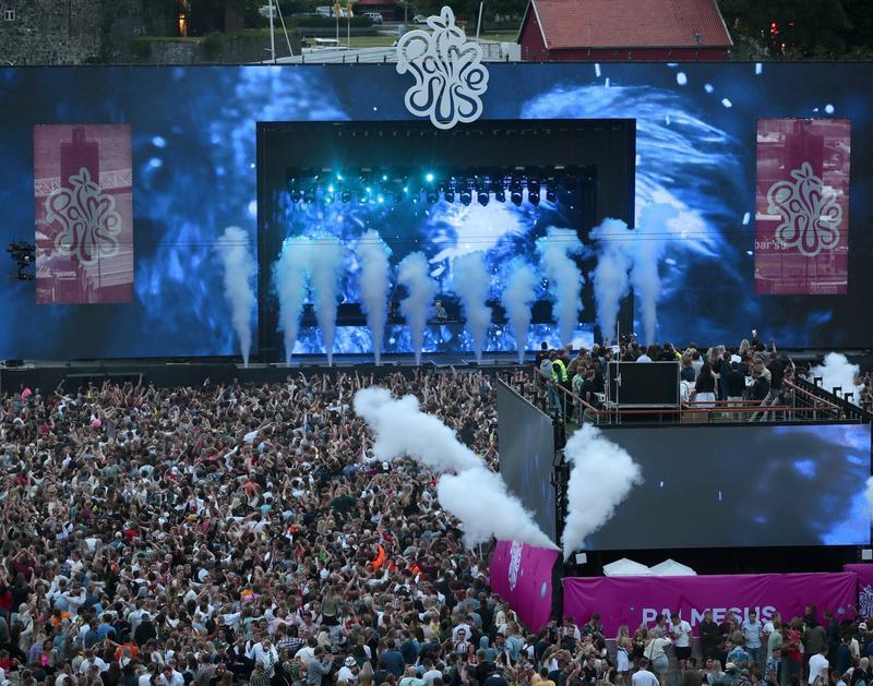 SUS OG DUS: Eierne av Palmesus tok ut et utbytte på 2,4 millioner kroner i fjor etter at festivalen ble avlyst. Her fra en DJ Tiësto-konsert i 2019. FOTO: HÅKON MOSVOLD LARSEN, NTB