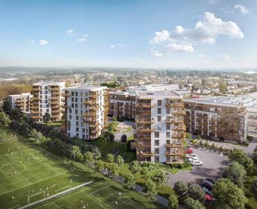 Resalg av kontraktsposisjon for leilighet C-H0204 i Tribunen Moss formidles av Krogsveen.