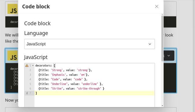 screenshot of code editor