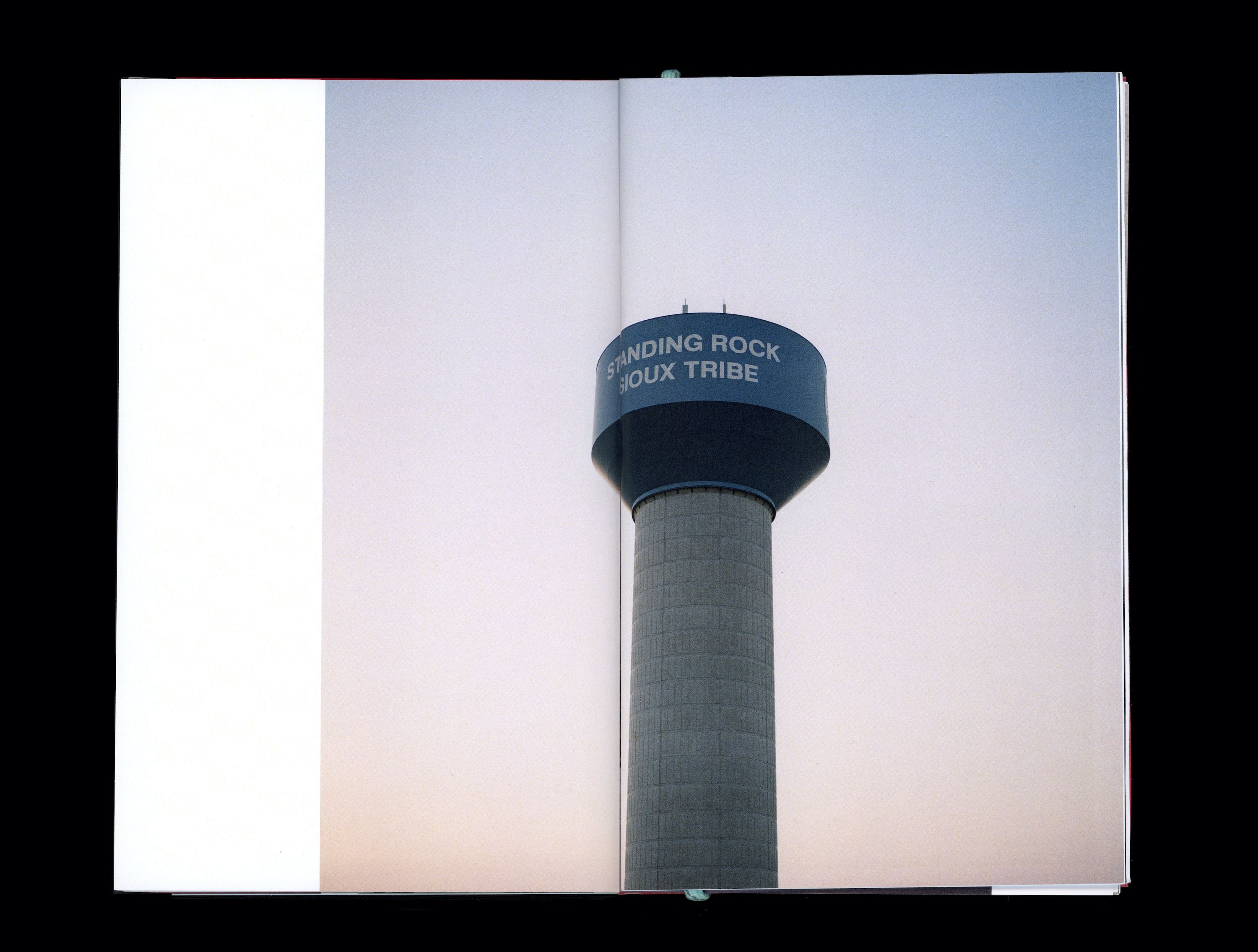 Photograph in book of Standing Rock Telecommunications tower