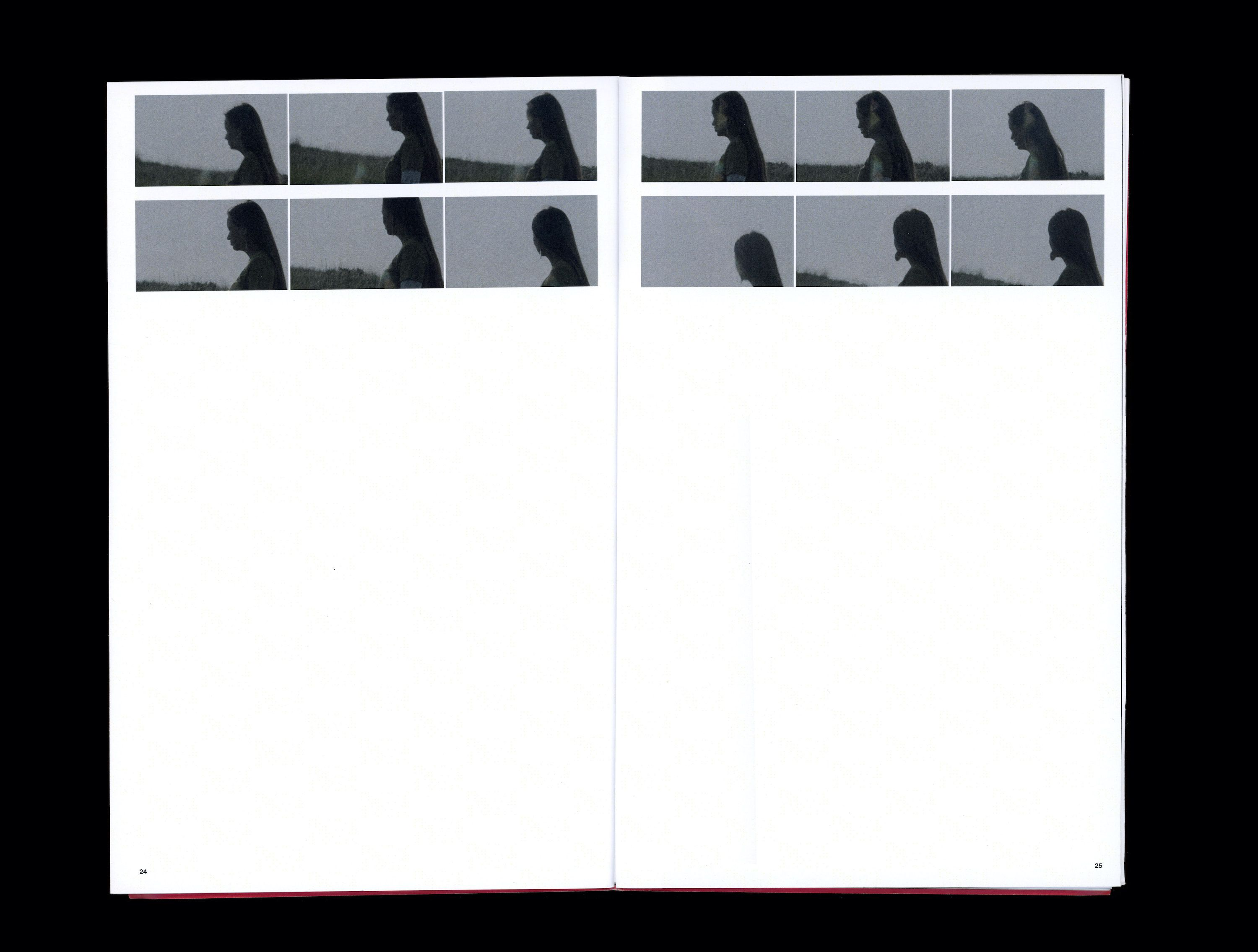 Sequence of photographs in book of Kylie Driver