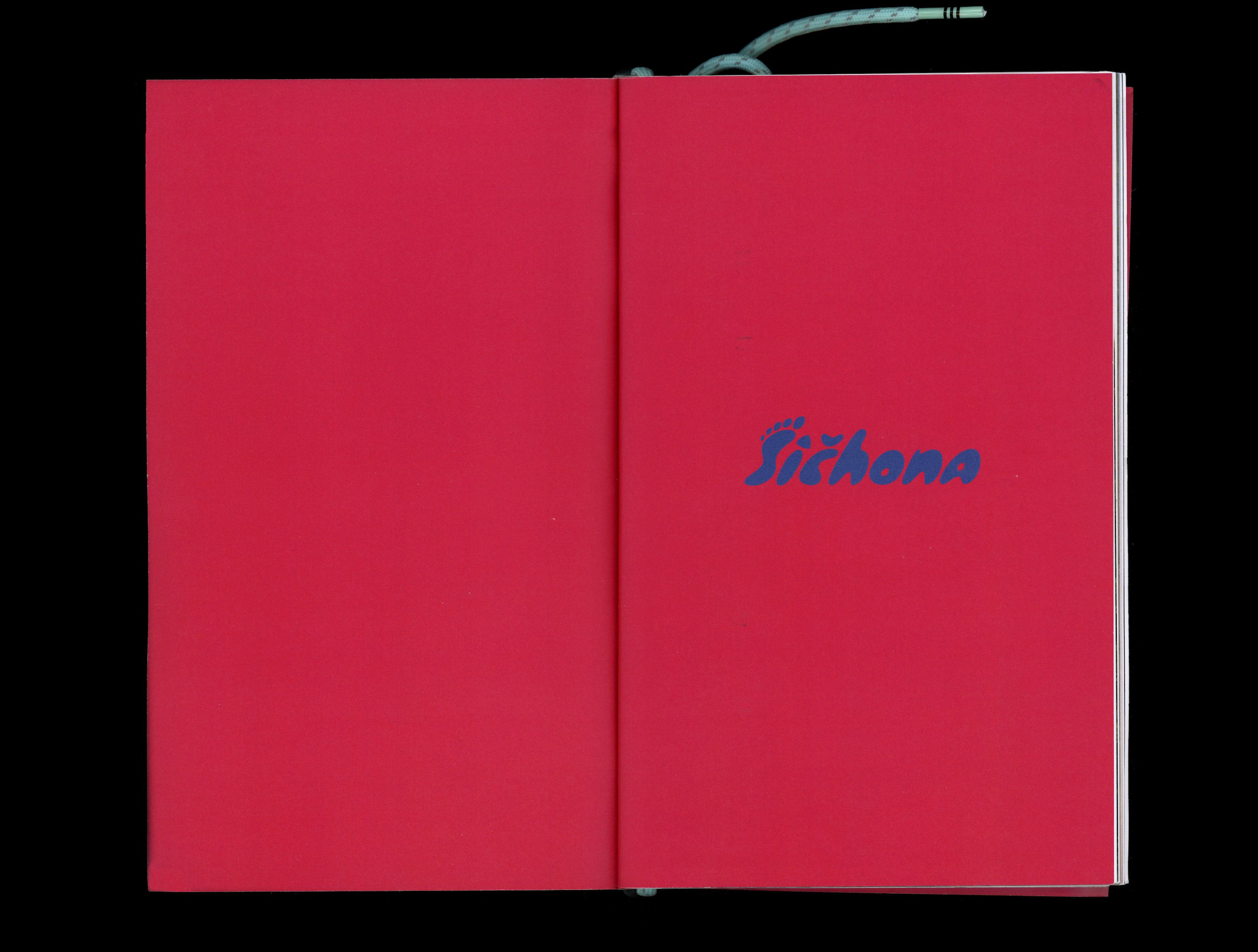 Inner cover of book with Sichona logo