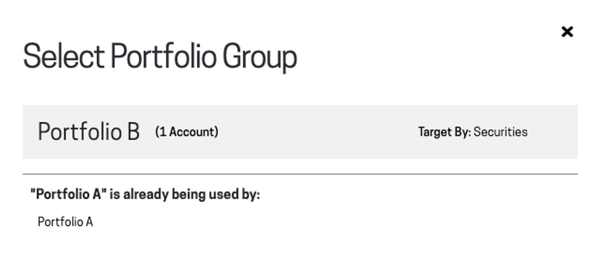 Image of select portfolio group for model in Passiv