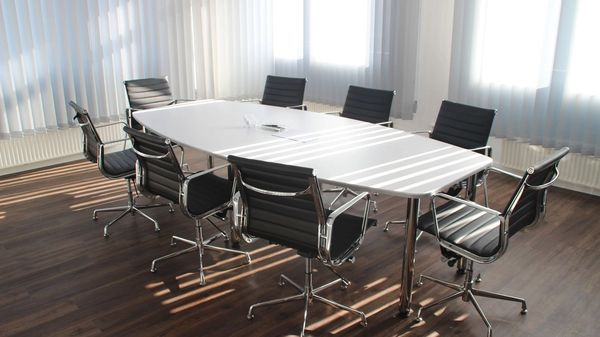 A corporate board room