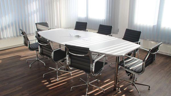 A corporate board room