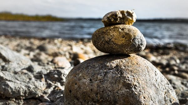 Rocks balancing on one another