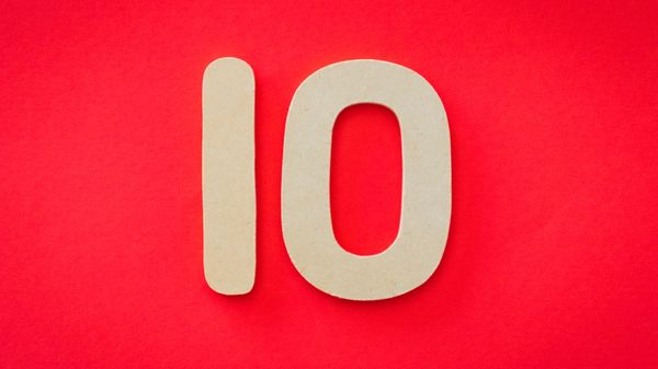 An image of the number 10