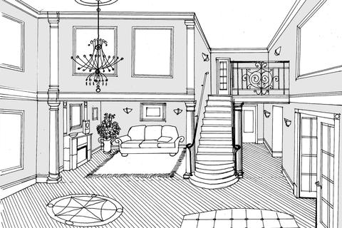 Arlington House foyer sketch