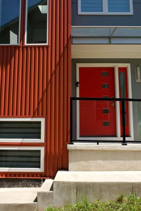 Kensington House front door and porch detail