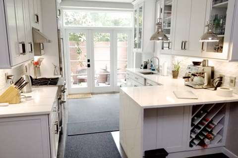 New kitchen renovation in historic Georgetown rowhouse in Washington, DC