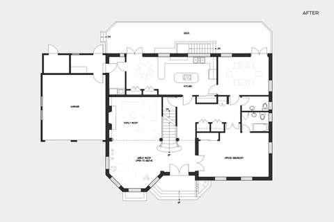 Arlington House after plan