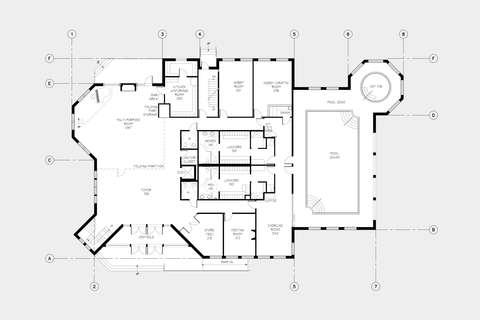 Cascade Estates Recreation Center First Floor Plan