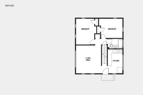 Music & Arts Atelier first floor plan before and after redesign