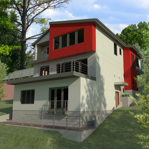 Pre-visualization of rear facade