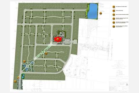 Cascade Estates site map