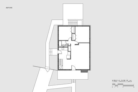 Rockville MD musician's house before and after floor plan