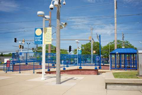 MTA Cromwell Station with newly redesigned accessibility features, platform shelters and other improvements, Glen Burnie, MD