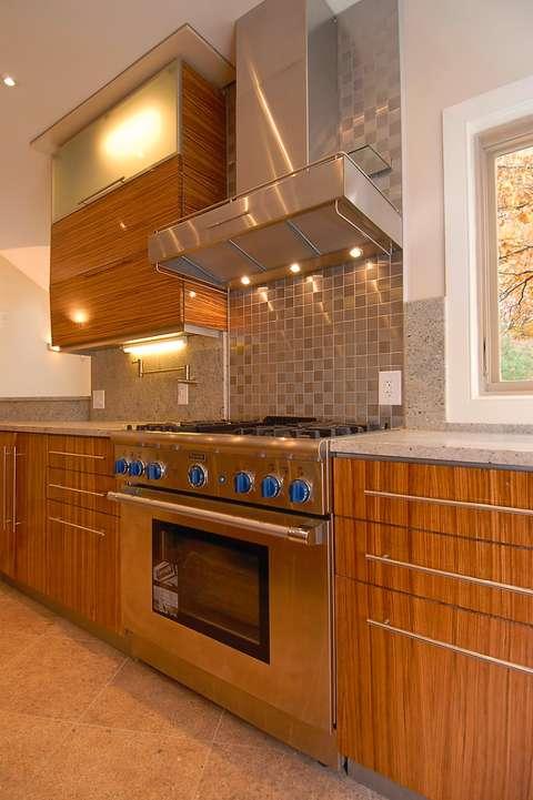 Cabin John kitchen stove detail