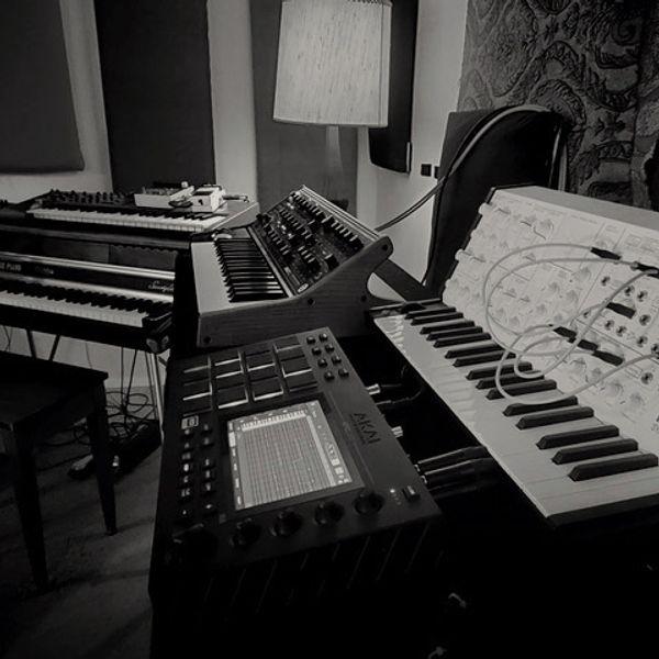 The studio setup