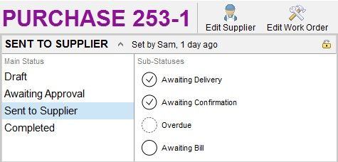Smart Toolbox - Ordering - Statuses