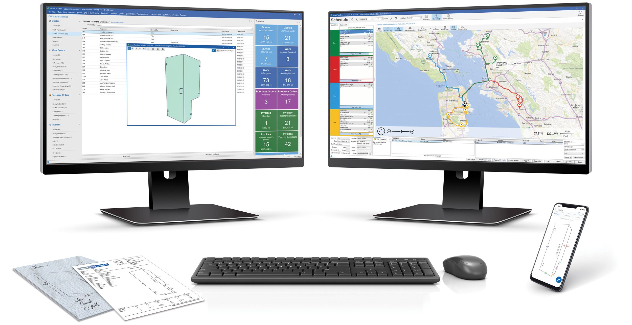 Glass shop management software - pricing that works the way you do
