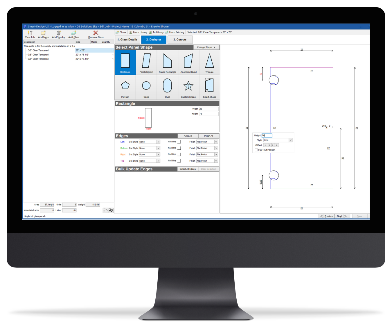 glass processor software