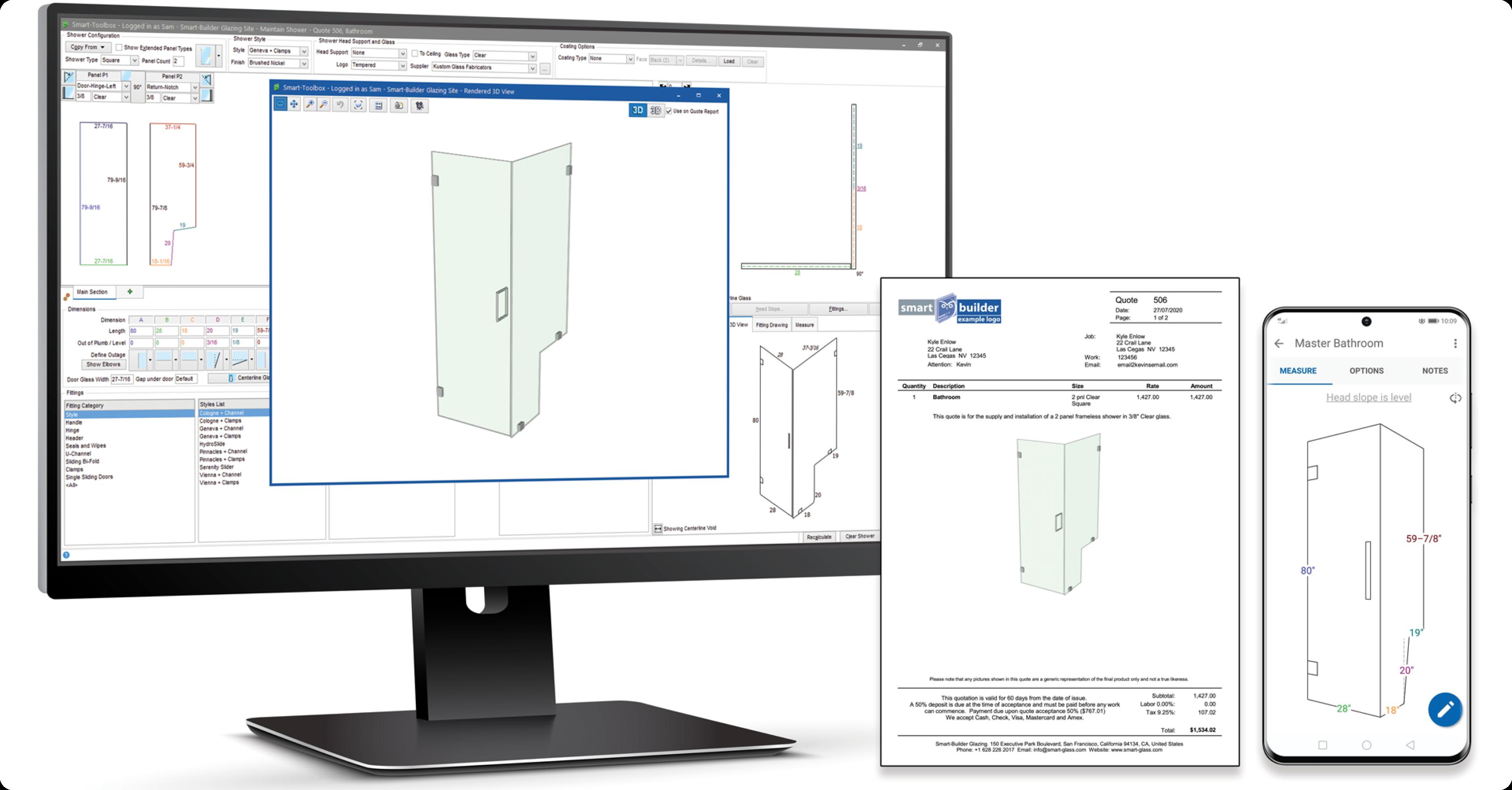 glass shop management software