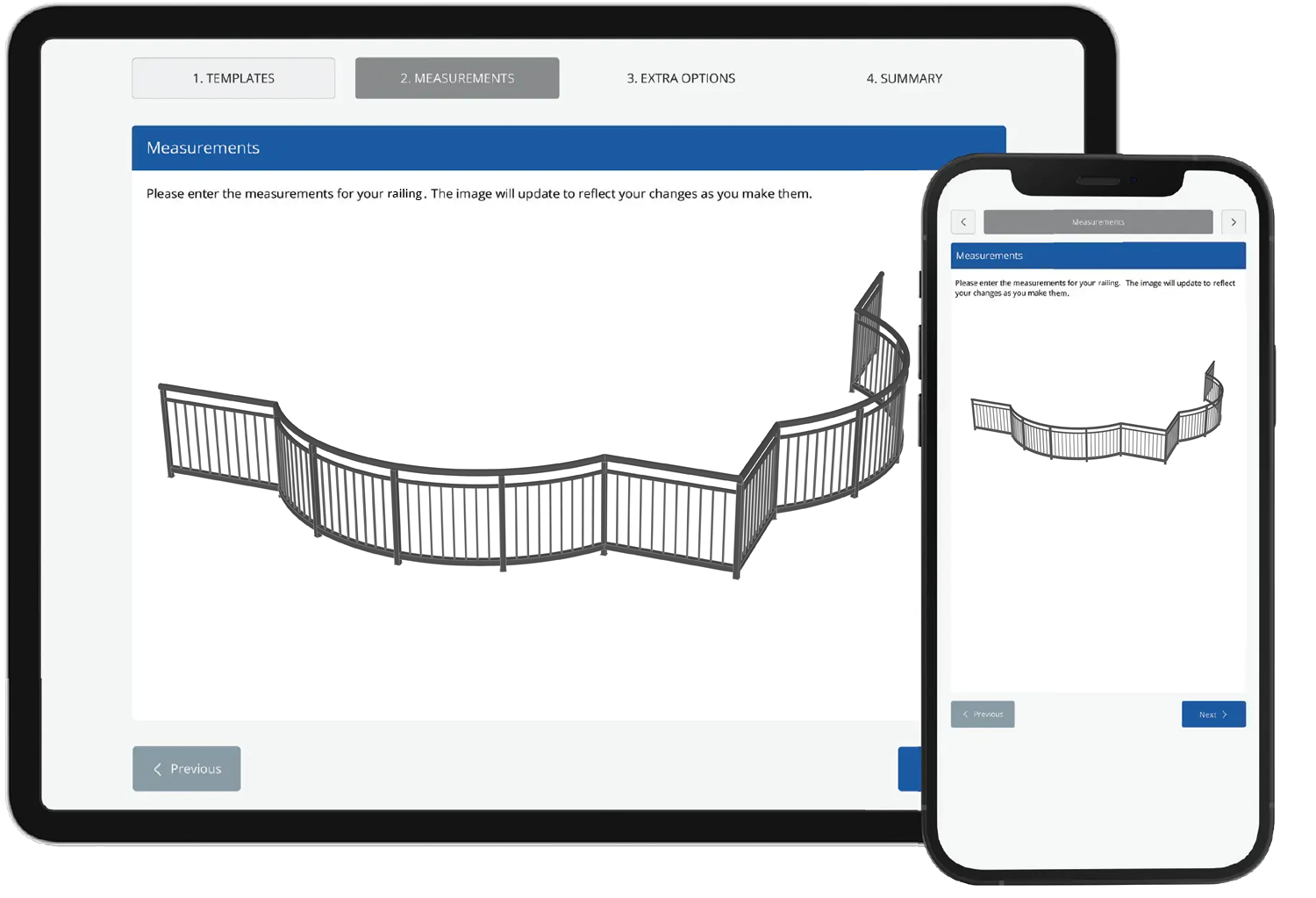 Sell railings on your website 24/7