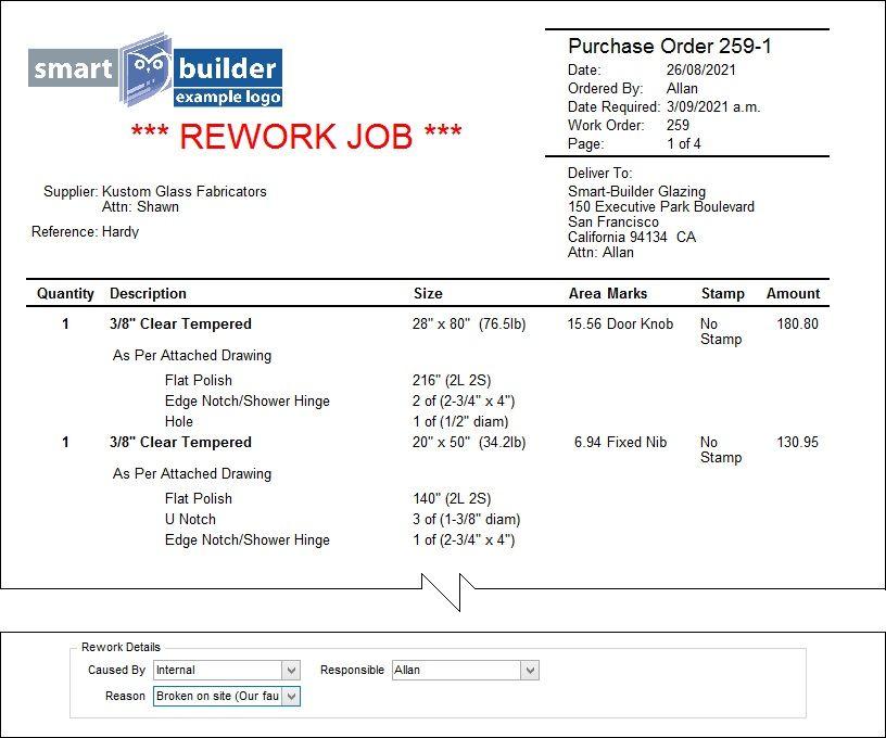 Smart Toolbox - Ordering - Reworks