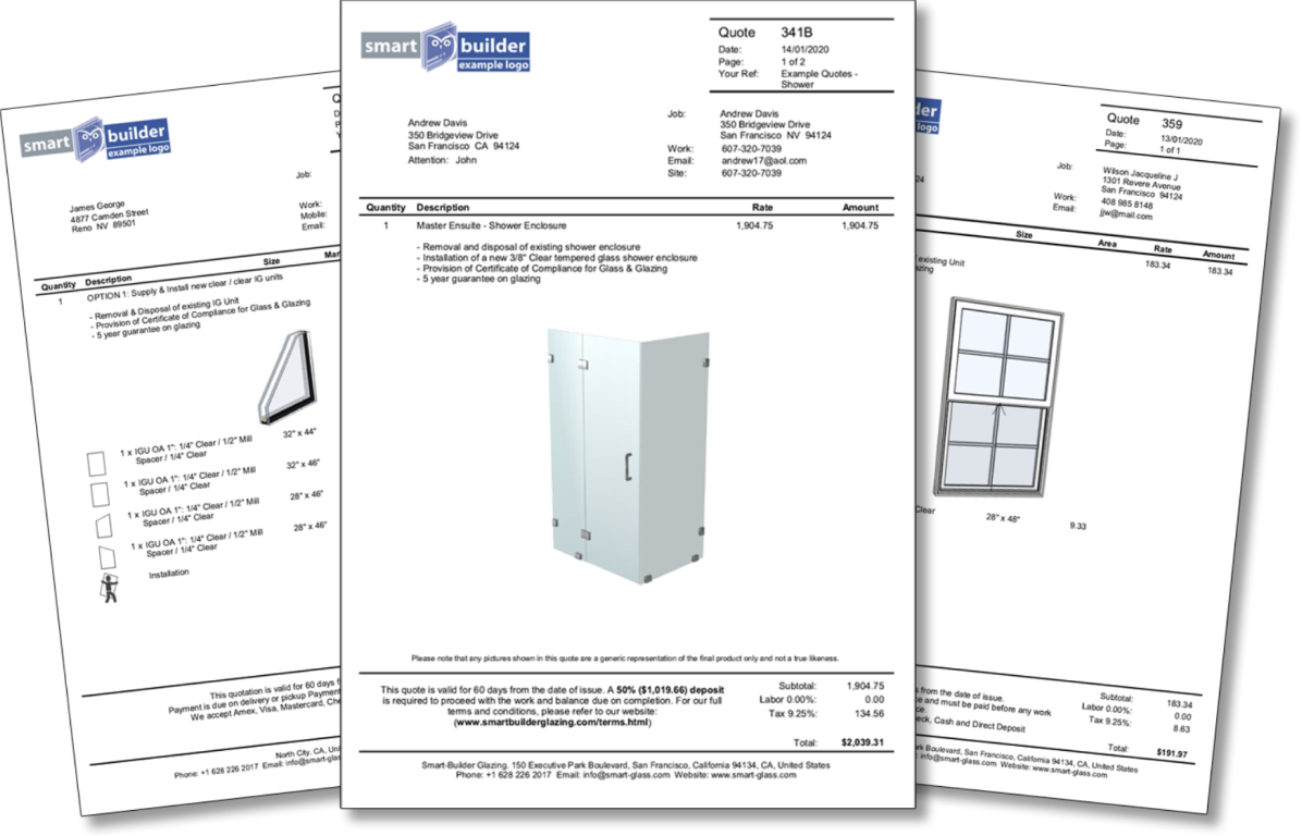 glass installers software