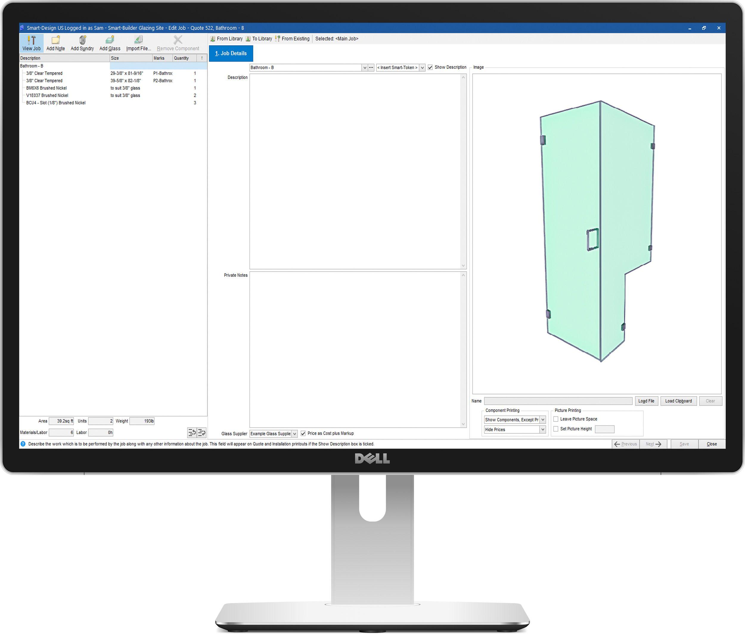 Smart-Glass Enterprise - Import from Showers Online
